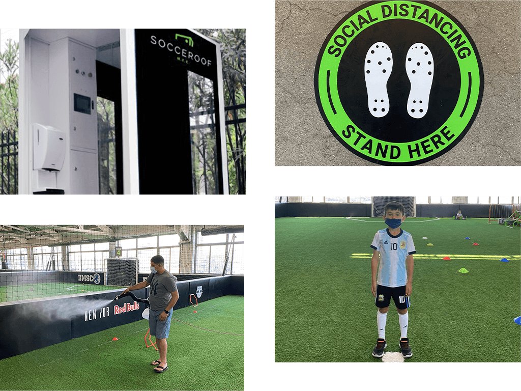 Socceroof Facility COVID-19 Measures for a fully controlled environment